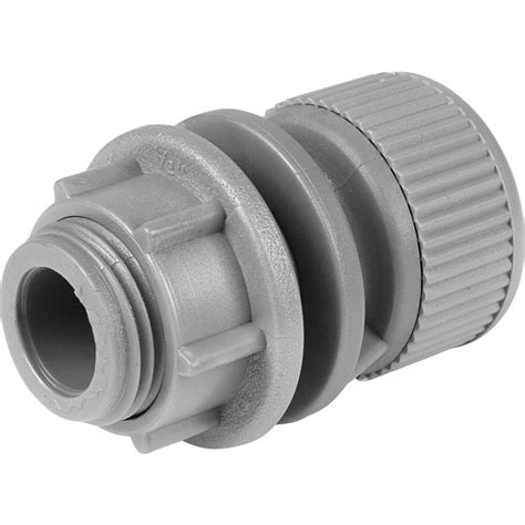 Plumbing Connectors Push On by New 2 X Plumbing Push Fit Tank Connector 15mm Each Freepost Uk