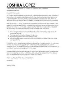 Service Technician Cover Letter by Classic Satellite Tv Technician Installer