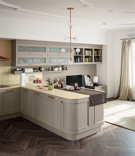 Cucine Stile Moderno by Cucina Laccata In Legno In Stile Moderno Con Maniglie Con