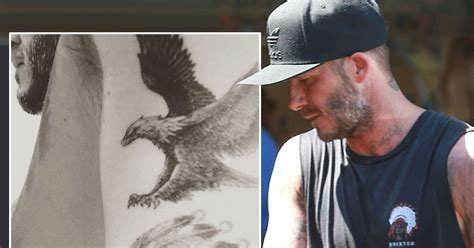 david beckham tattoo new david beckham is winging it with his new tattoo as he