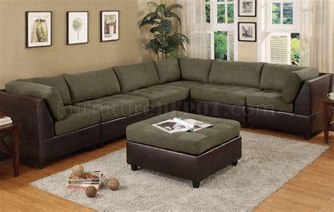 microfiber modular sectional sage microfiber plush contemporary 6pc modular sectional sofa