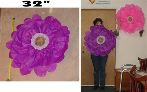 Large Tissue Paper Flowers - designs by vintage finds diy large tissue paper