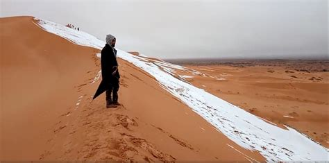 snow in sahara snow falls in sahara desert for third time in 40 years