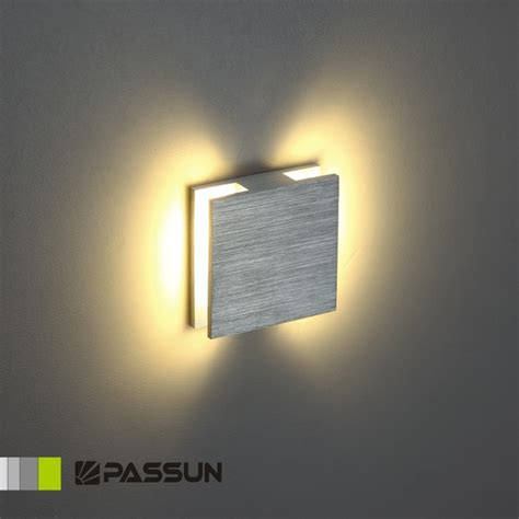 Led Wall Lights Indoor Aluminium Modern Recessed Led Wall Light For Stairs
