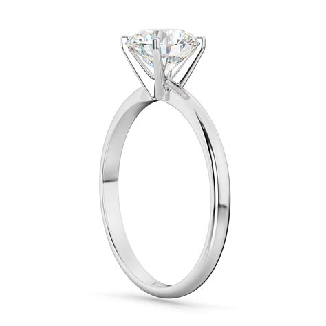 four prong palladium solitaire engagement ring setting ur145