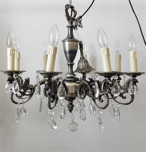 Antique Pewter Chandelier Antique Pewter Chandelier 270499 Sellingantiques Co Uk