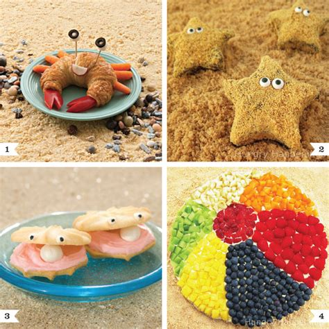 party themes with food beach