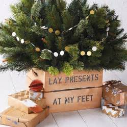 personalised christmas tree planter crate by plantabox