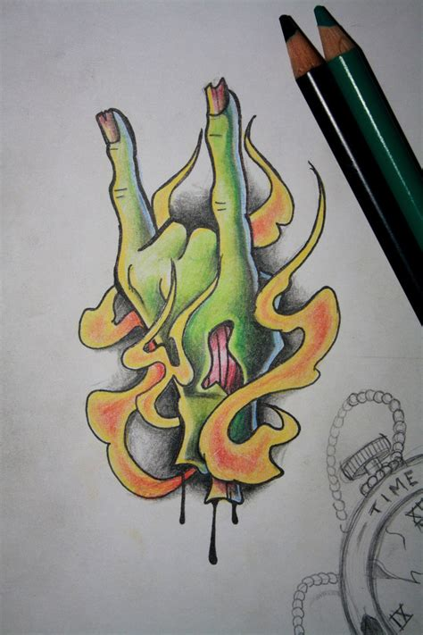 rock and roll tattoo designs zombles rock n roll by artisticrender on deviantart