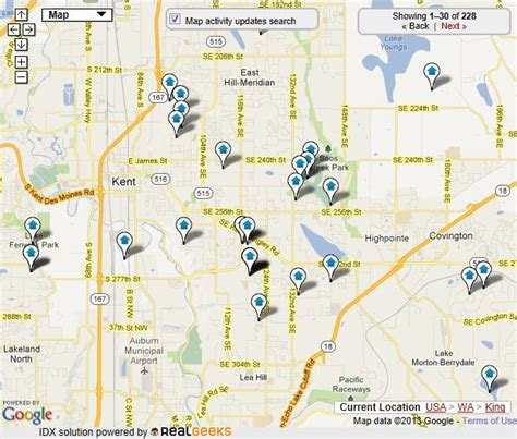 seattle map kent kent homes for sale kent real estate