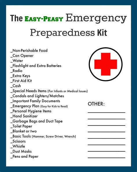 emergency evacuation preparedness kit free printable