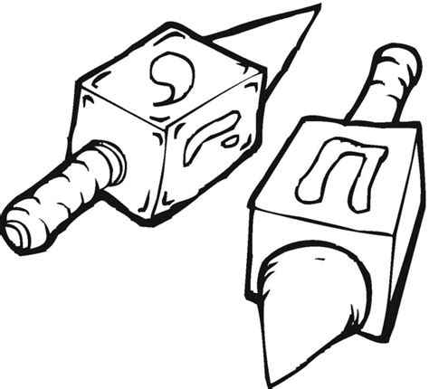 dreidel coloring page coloring pages