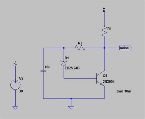 zener diode noise how to model a noisy zener diode in ltspice electrical engineering stack exchange