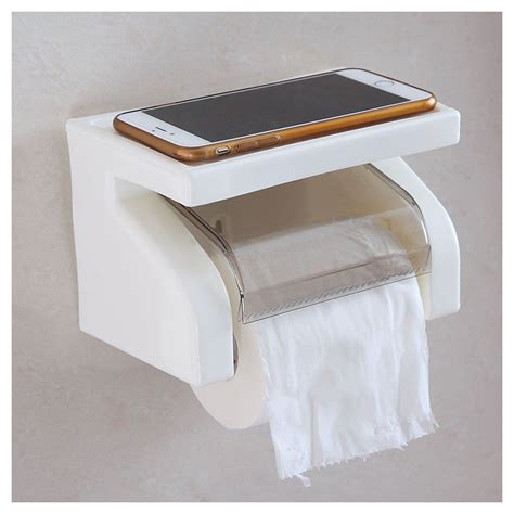 toilet paper shelf waterproof toilet paper holder tissue roll stand box with