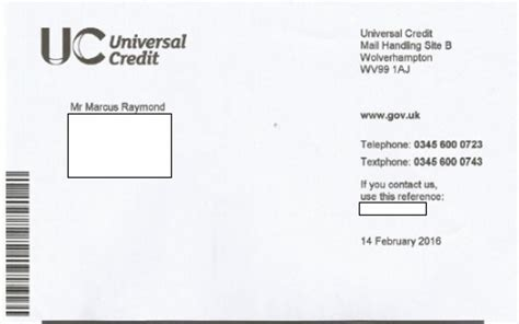 How To Get Tax Credit Award Letter dwp letters telling to call the universal credit