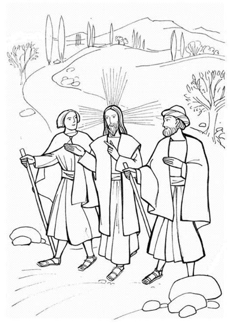 coloring page of jesus on the road to emmaus road to emmaus coloring page the with jesus on the