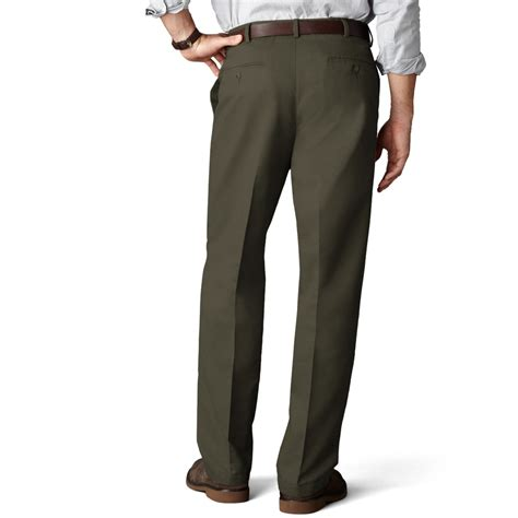 relaxed khaki dockers d4 relaxed fit comfort khaki flat front in green for brown olive lyst