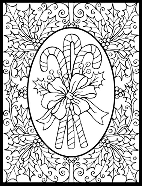 Printable Coloring Pages Adults Christmas | christmas adult coloring pages coloring home