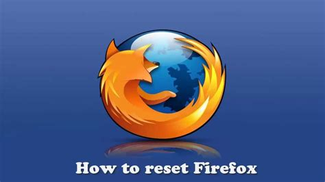 how to reset firefox and get rid of unwanted toolbars