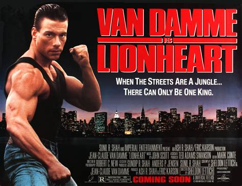 lionheart film jean claude van damme posters wrong side of the art