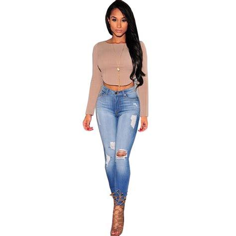 moda de jeans de damas 2016 skinny jeans woman ripped jeans for women 2016 high waist