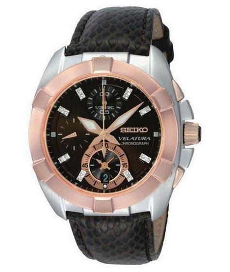 Seiko Velatura Silver Combi Black Brown Leather 1 seiko velatura chronograph diamonds review
