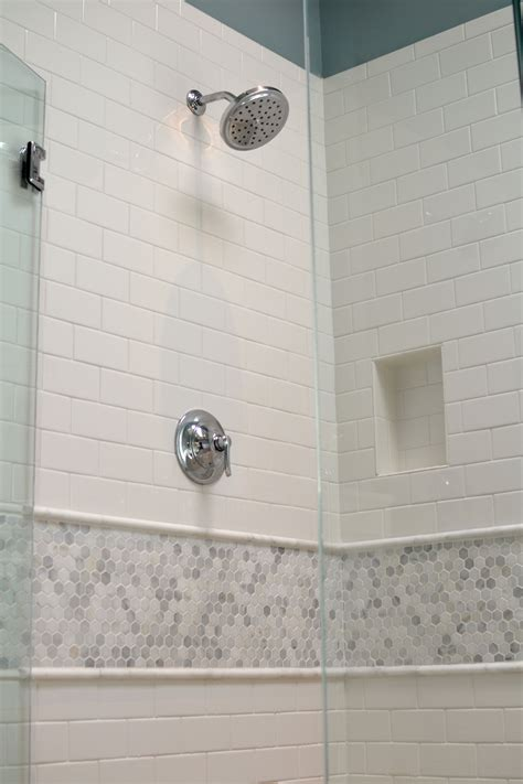 White Marble Subway Tile Bathroom by Master Bathroom Renovation White Subway Tile With Cararra