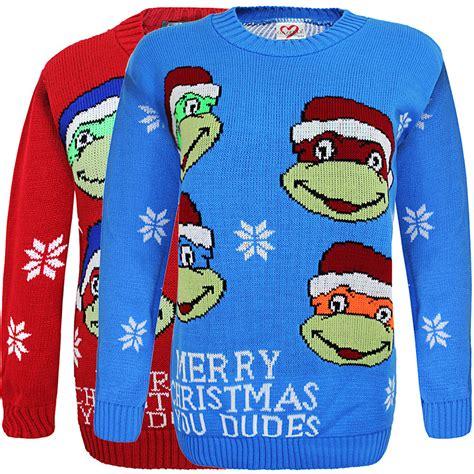 knitting pattern for ninja turtles jumper kids unisex boys girls ninja turtle christmas jumper