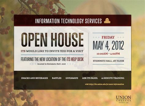 Tech Mba Open House by Its Open House Invitation On Behance