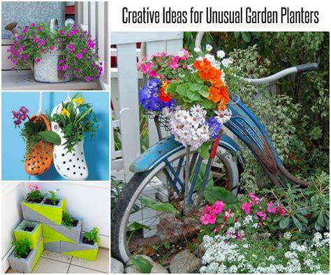 unique outdoor planters creative ideas for garden planters