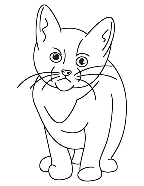 sad cat coloring page sad cat coloring page coloring pages