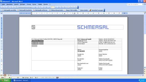 Brief Word Ref Eworks Referenz Programmierung Word Serienbrief