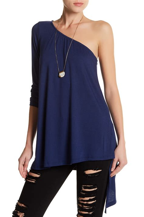 willow clay one shoulder knit blouse nordstrom rack