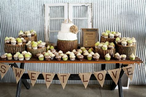 Wedding Cupcake Table Decorations by Rustic Cake Table Wedding Stuff Sweet