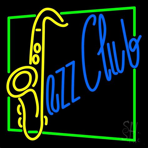 club with jazz club with saxophone neon sign club neon sign