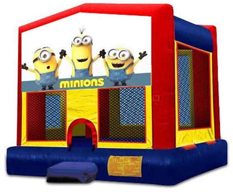 Minion Bounce House by Minions 2 In 1 Module Jumper Basketball Hoop Included