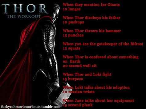 Thor Movie Workout | pinterest discover and save creative ideas