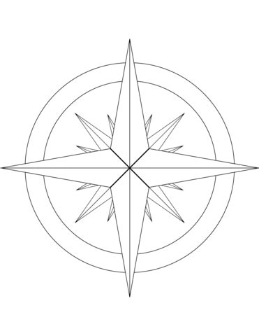 coloring page of compass rose compass rose coloring page coloring page for kids