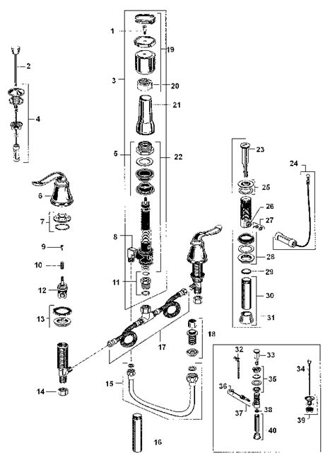 American Standard Bidet Faucet Parts by American Standard 4508 400 Parts List And Diagram