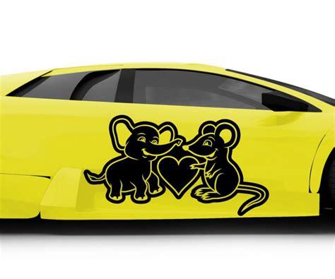 Auto Aufkleber Maus by Autoaufkleber Elefant Maus Gef 252 Hle Liebe Auto