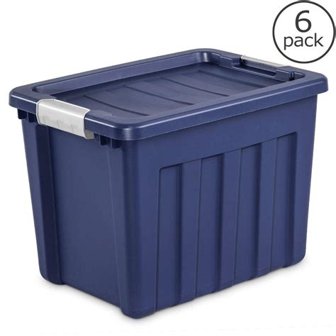 Box Makanan Container Makanan Ultra Pack sterilite 72 qt ultra tote 6 pack 16867406 the home depot