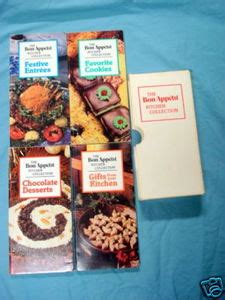 1983 bon appetit kitchen collection 4 cook books case