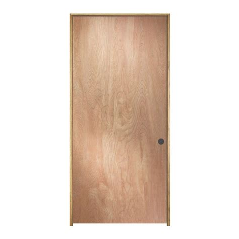home depot interior doors wood jeld wen 28 in x 80 in birch unfinished left hand flush