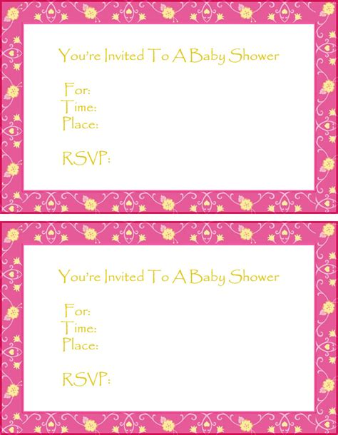 free baby shower invitation template free baby shower invitation templates