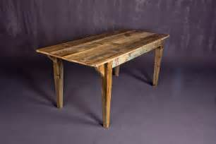 30 quot tall dining table built from reclaimed barn wood and reclaimed
