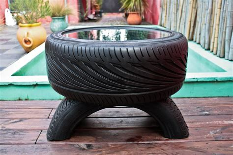 Tisch Aus Reifen by How To Recycle Glass Top Coffee Table From Used Car Tires