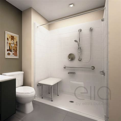 bathroom design stores deluxe barrier free ada shower kit acrylx ella s bubbles