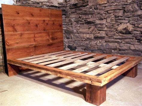 pine platform bed reclaimed wood platform bed from antique pine