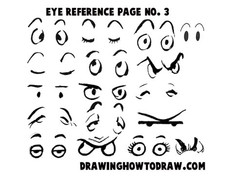 printable cartoon character eyes step 03 eyes reference 300x228 drawing cartoon