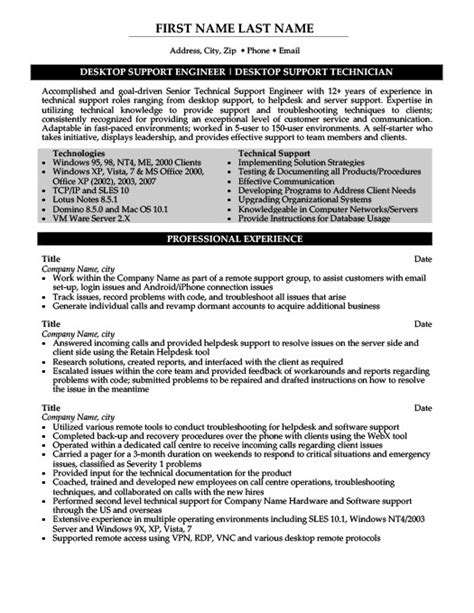 desktop engineer resume format doc desktop support engineer resume template premium resume sles exle